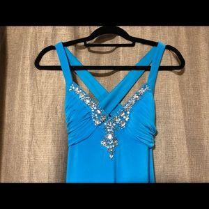 Size 2 blue prom dress
